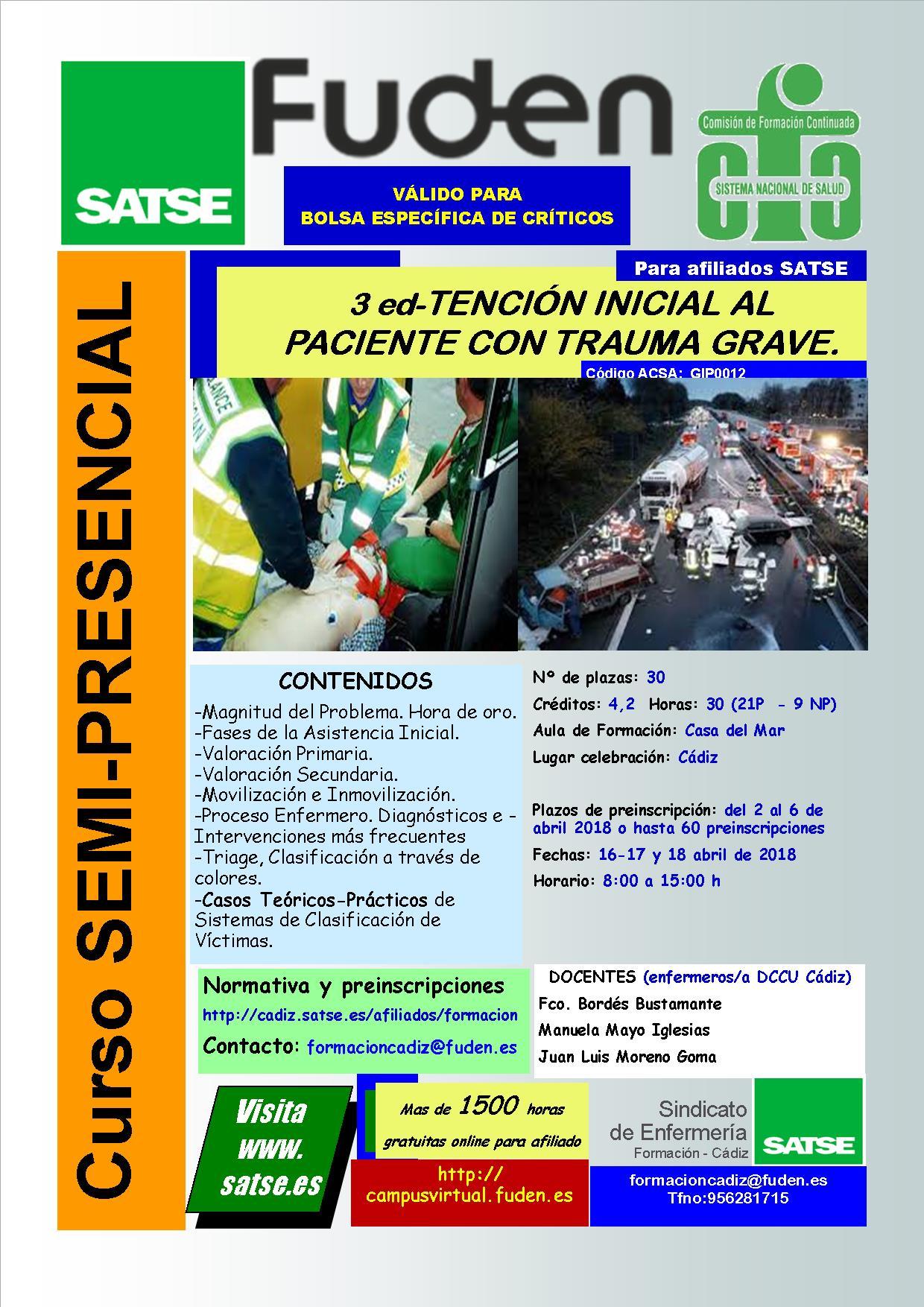 2018-3ª ed CADIZ - ATENCIÓN INICIAL AL PACIENTE CON TRAUMA GRAVE.