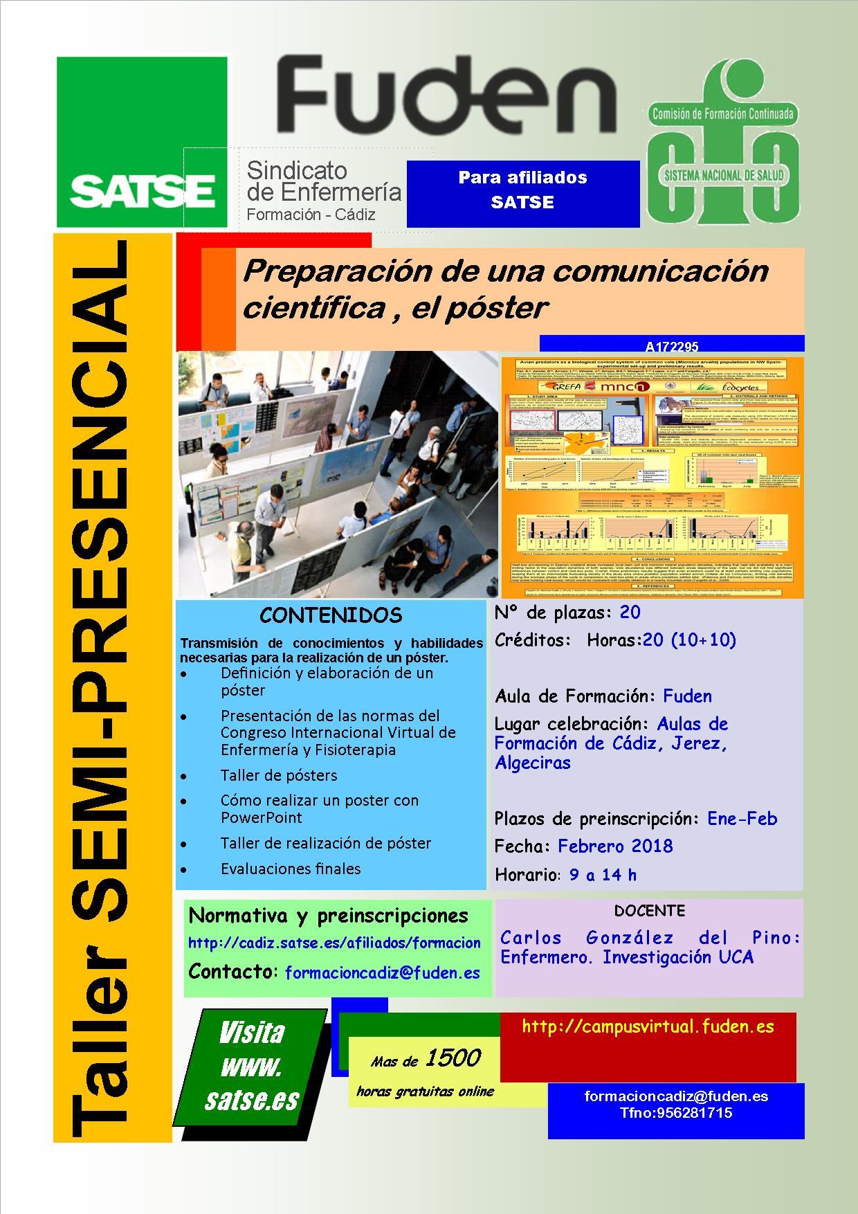 SATSE ALGECIRAS - PREPARACION DE UNA COMUNICACIÓN CIENTIFICA, EL POSTER